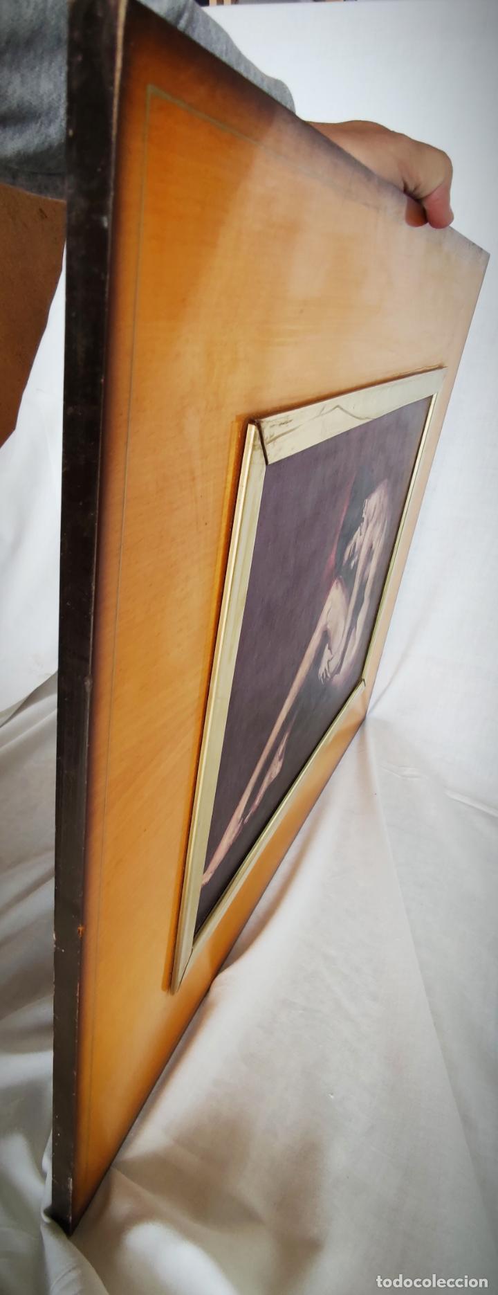 Arte: OLEO SOBRE TABLA - MARCELLO CASSINARI VETTOR - DESNUDO - 40 X 30 CM APROX. - BASTIDOR MADERA - Foto 6 - 228019230