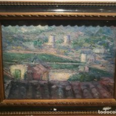 Arte: PAISAJE FIRMADO CON MONOGRAMA CIRCA 1920.. Lote 228037800