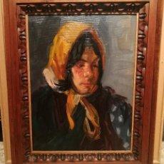Arte: NIÑA CON PAÑUELO POR PERE CREIXAMS (1893-1965). Lote 228039020