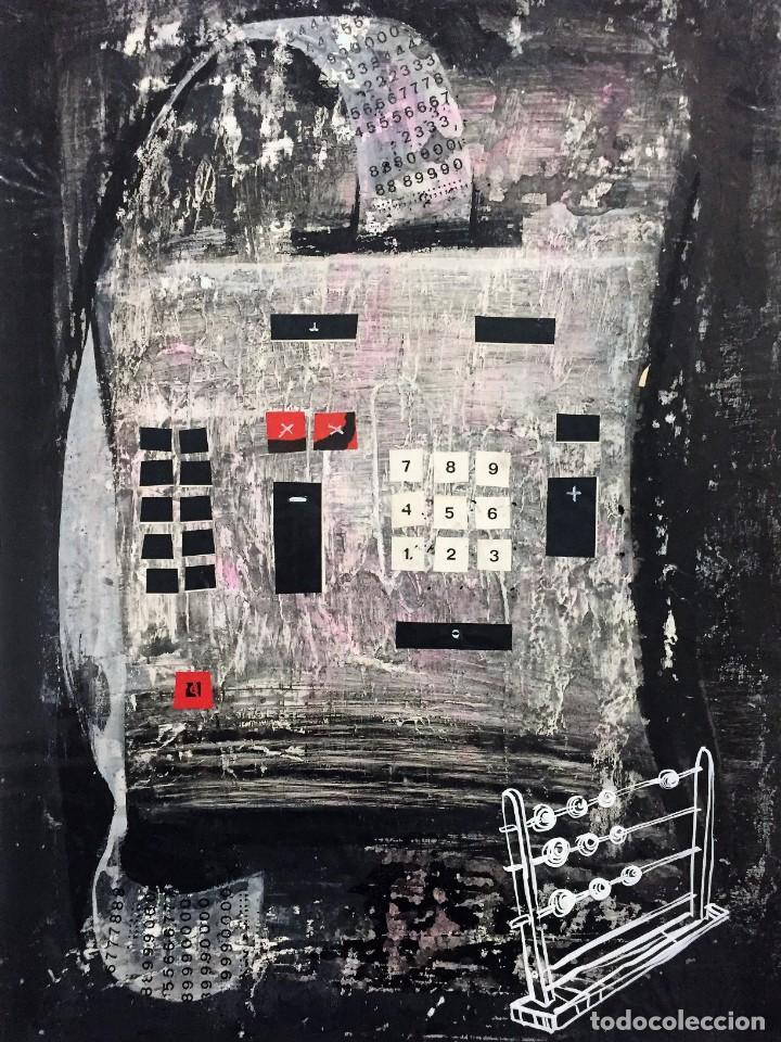 TÉCNICA MIXTA DE CIRO ODUBER(1921-2002),42X32, DE ABRIL DE 1968, ORIGINAL (Arte - Pintura - Pintura al Óleo Contemporánea )