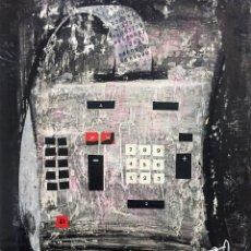Arte: TÉCNICA MIXTA DE CIRO ODUBER(1921-2002),42X32, DE ABRIL DE 1968, ORIGINAL. Lote 228046615