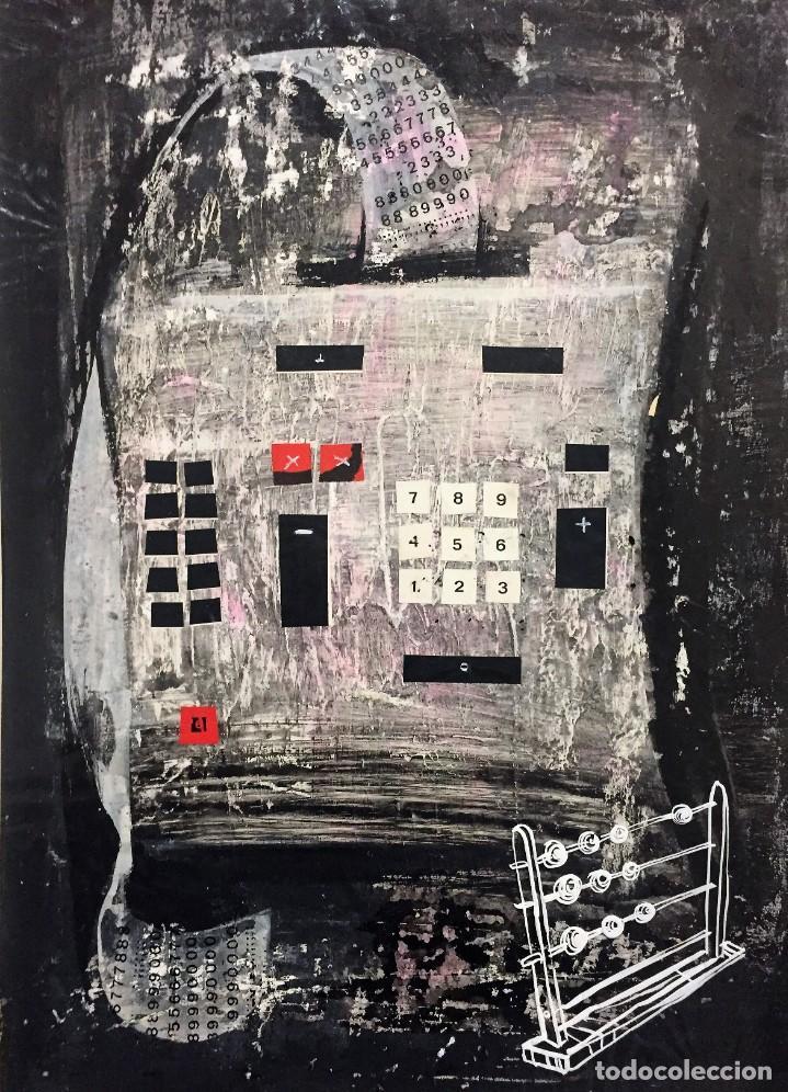 Arte: Técnica mixta de Ciro Oduber(1921-2002),42x32, de abril de 1968, original - Foto 2 - 228046615