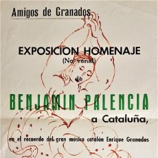"Arte: BENJAMÍN PALENCIA (BARRAX,1894- MADRID,1980) ""BAILAORA"" DIBUJO SOBRE CARTEL (59 X 35) 1966. Lote 228151070"