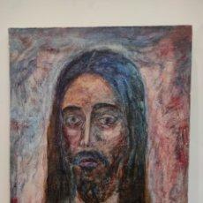 Arte: OLEO SOBRE LIENZO, RETRATO / IMAGEN DE CRISTO, POR VIRTUDES TERUEL. FIRMADO. 46X38CM. Lote 228157683
