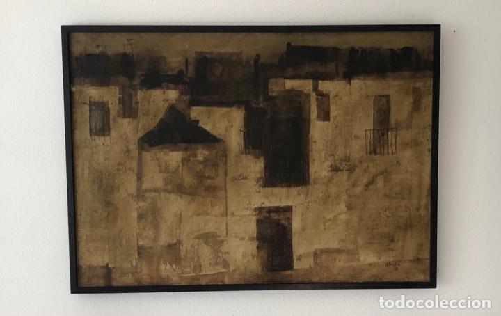 GABRIEL ALBERCA . MALAGA . ÓLEO SOBRE LIENZO FIRMADO ALBERKA 1965 . 90 X 65 CM (Arte - Pintura - Pintura al Óleo Contemporánea )