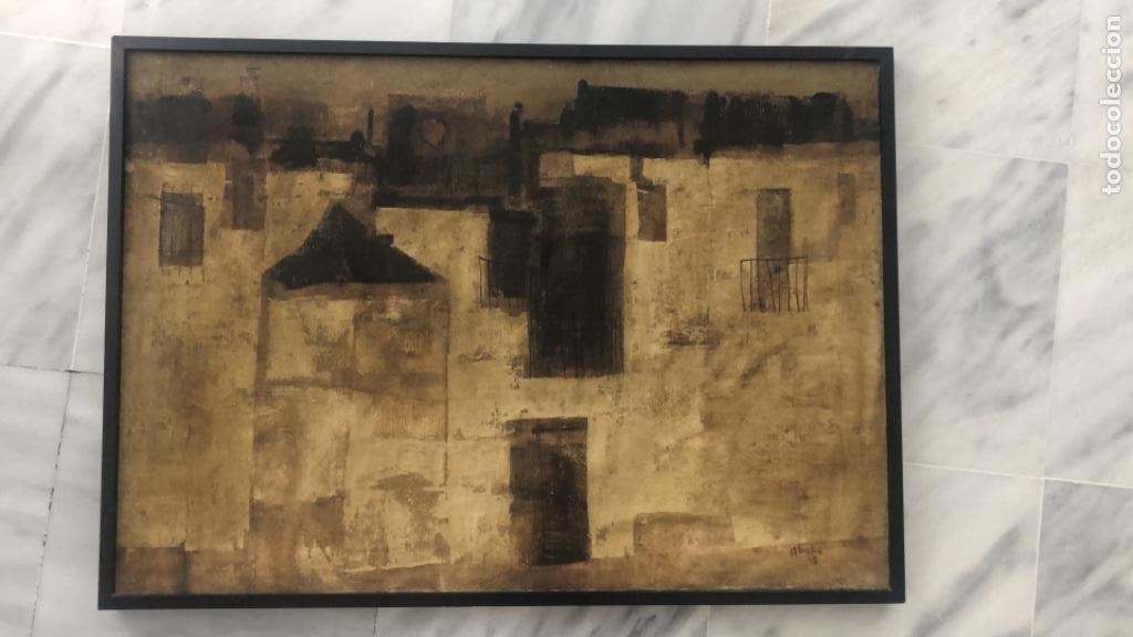 Arte: Gabriel alberca . Malaga . Óleo sobre lienzo firmado Alberka 1965 . 90 x 65 cm - Foto 2 - 228199295