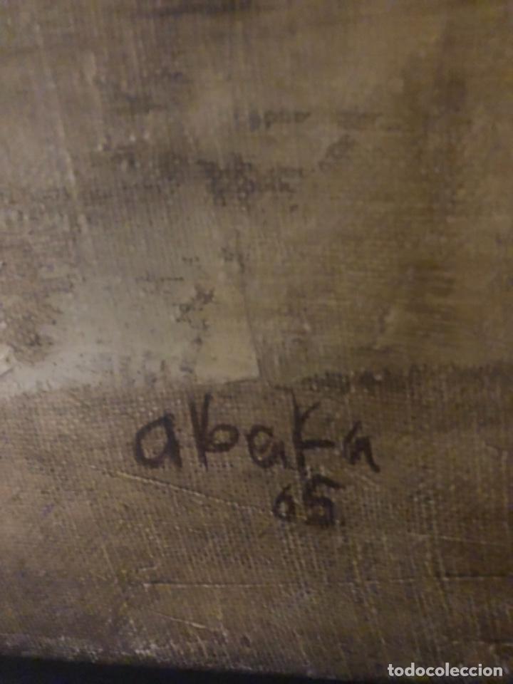 Arte: Gabriel alberca . Malaga . Óleo sobre lienzo firmado Alberka 1965 . 90 x 65 cm - Foto 3 - 228199295