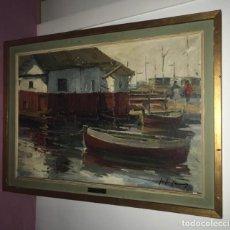 Arte: JOSEP LLUIS CASAÑE PUIG (BARCELONA 1926-1991).MARINA CON ÓLEO. Lote 127429755