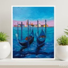 Arte: OLEO SOBRE LIENZO -VENECIA - CUADRO MODERNO - ABSTRACTO - FIRMADO. Lote 228351555