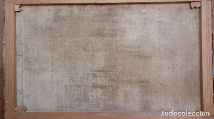 Arte: ÓLEO SOBRE LIENZO ENMARCADO -NAUFRAGIO-. FIRMADO.- MURCIA. DIMENSIONES.- 97.5X65 CMS. - Foto 11 - 228363710