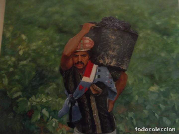 "OLEO HIPERREALISMO "" VENDIMIA "" OBRA FIRMADA POR EL ARTISTA 60 X 50 CM (Arte - Pintura - Pintura al Óleo Moderna sin fecha definida)"