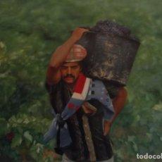 "Arte: OLEO HIPERREALISMO "" VENDIMIA "" OBRA FIRMADA POR EL ARTISTA 60 X 50 CM. Lote 228506060"