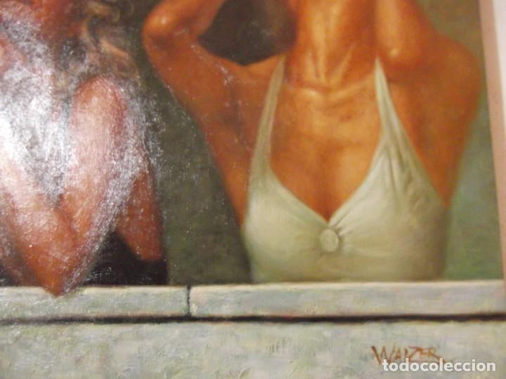 "OLEO "" SALIDAS AL BALCON "" OBRA FIRMADA POR EL ARTISTA 60 X 50 CM (Arte - Pintura - Pintura al Óleo Moderna sin fecha definida)"