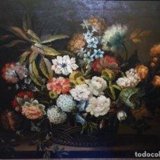 Arte: GRAN ÓLEO ANONIMO S.XIX.BODEGON DE FLORES.BIEN ENMARCADO Y GRAN CALIDAD.. Lote 228659220