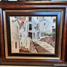 Arte: OLEO SOBRE LIENZO PAISAJE RURAL 85 X 76 ENMARCADO FIRMADO R. GASCO. Lote 69314589
