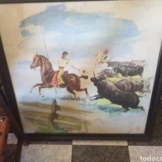 Arte: PINTURA SOBRE TABLA FIRMADO LOBO. Lote 229174555