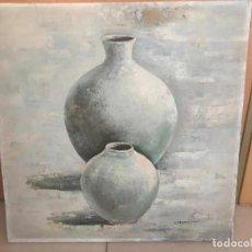Arte: ÓLEO SOBRE LIENZO , BODEGÓN FIRMA ILEGIBLE. Lote 229351180
