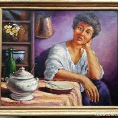 Arte: JOSEP FORNELLS PIULATS (MANRESA, 1923-2010) - ÓLEO SOBRE TELA ENMARCADO 68 X 58. Lote 199275386