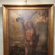 Arte: SAN SEBASTIAN. OLEO SOBRE LIENZO. SIGLO XVII. GRAN FORMATO. IMPONENTE.. Lote 229536265