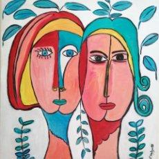 Arte: CUADRO, PINTURA ÓLEO SOBRE TABLEX. 61 X 56 CMTRS. FIRMADO.. Lote 229582050