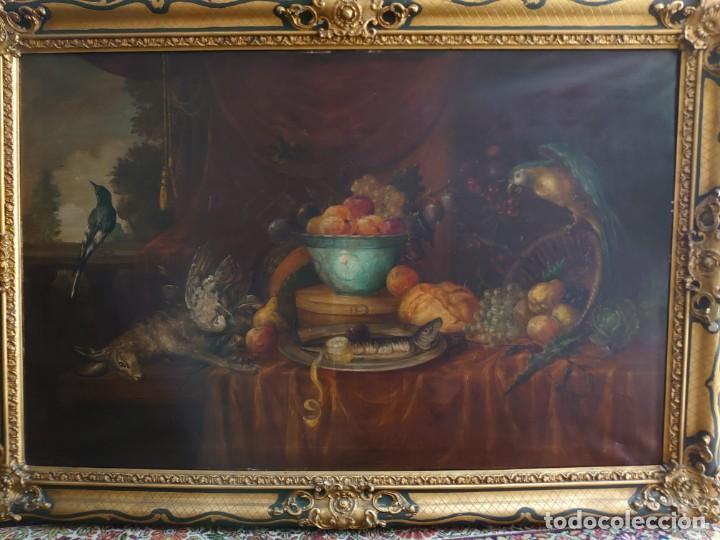 OLEO GRAN BODEGON FLAMENCO SIGLO XVIII (Arte - Pintura - Pintura al Óleo Antigua siglo XVIII)