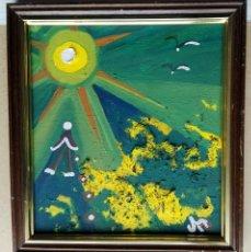 Arte: ANTONI MARTÍ, SEUDÓNIMO (CASSERRES, 1.960) - ÓLEO SOBRE TABLERO. ENMARCADO 26 X 24. Lote 229647275