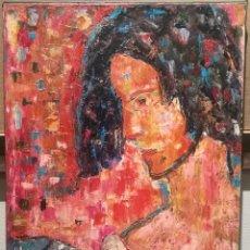 Arte: RETRATO FEMENINO POR SANTI SURÓS (1909-82). Lote 229695080