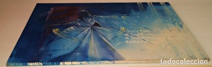 Arte: Fabulosa pintura gigante de Derviche o bailarín Turco (óleo sobre tela) de 180 x 120 cm - Foto 2 - 229908110