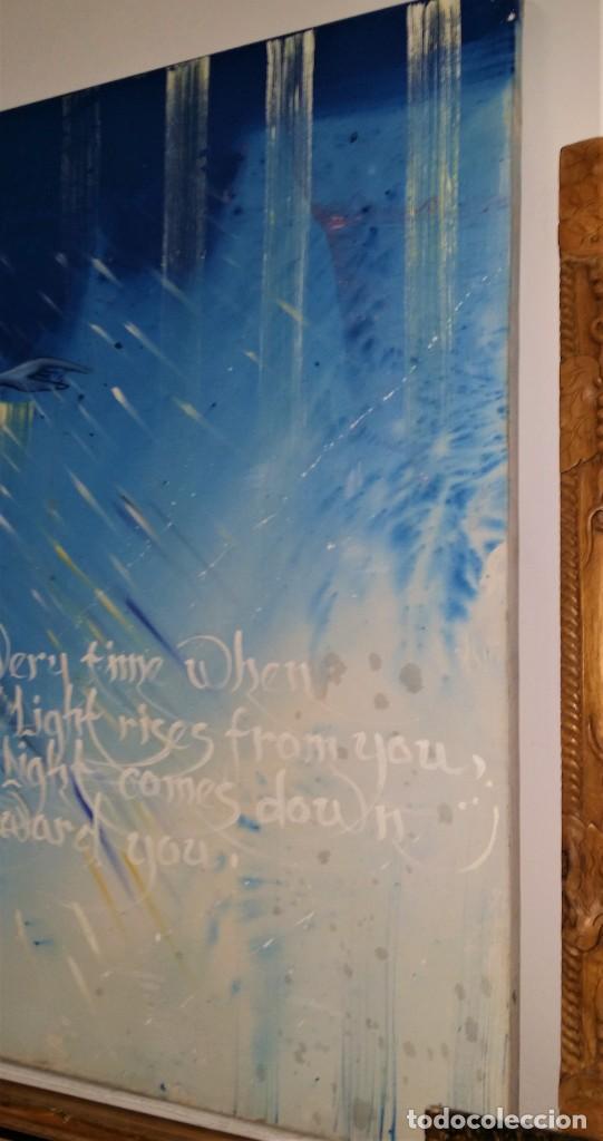 Arte: Fabulosa pintura gigante de Derviche o bailarín Turco (óleo sobre tela) de 180 x 120 cm - Foto 7 - 229908110