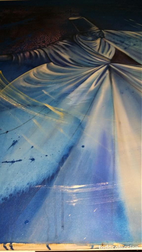 Arte: Fabulosa pintura gigante de Derviche o bailarín Turco (óleo sobre tela) de 180 x 120 cm - Foto 9 - 229908110