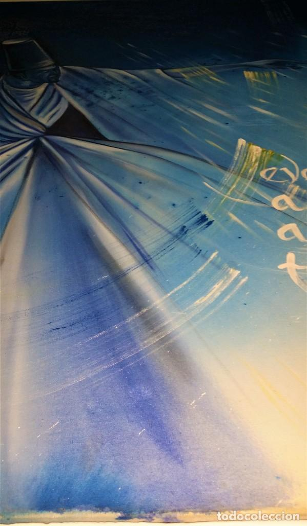 Arte: Fabulosa pintura gigante de Derviche o bailarín Turco (óleo sobre tela) de 180 x 120 cm - Foto 10 - 229908110