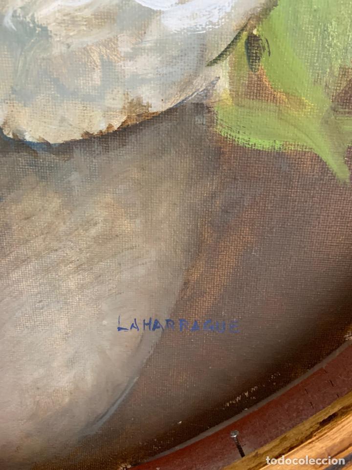 Arte: Carlos Laharrague – Cuadro al óleo Hortensias. - Foto 3 - 229980140