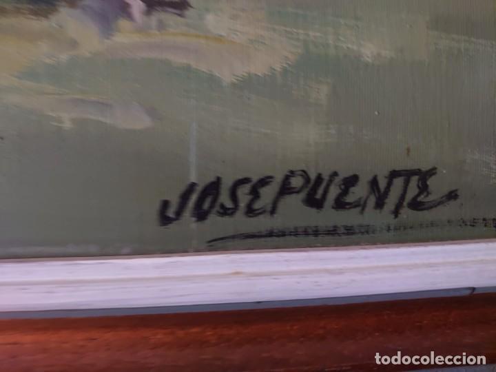 Arte: OLEO SOBRE LIENZO JOSE PUENTE BANDOLEROS - Foto 6 - 230003210
