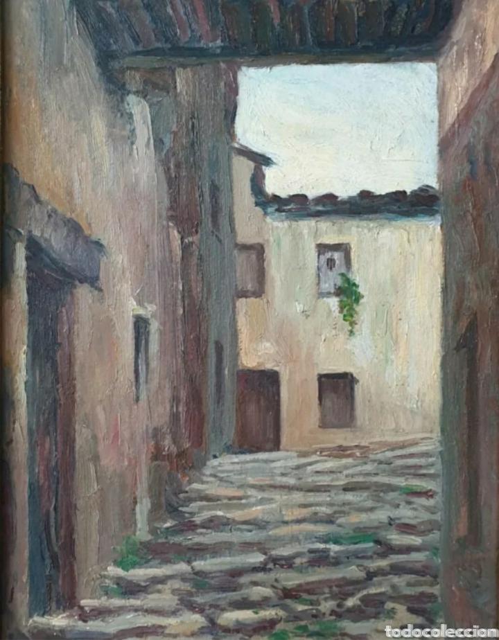 Arte: Mossèn Josep Gelabert i Rincón (El Morell, 1859 -Llagostera,1936) - Rincon de Pueblo.Firmado. - Foto 2 - 196608846
