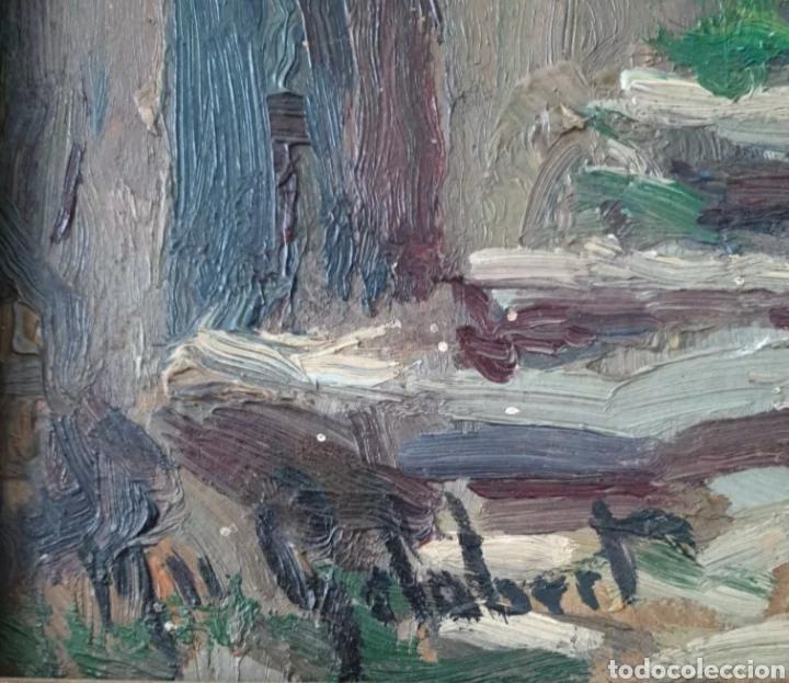 Arte: Mossèn Josep Gelabert i Rincón (El Morell, 1859 -Llagostera,1936) - Rincon de Pueblo.Firmado. - Foto 3 - 196608846