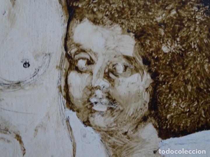 Arte: ÓLEO SOBRE TABLA DE MAÏTHE DOBLER.EXCELENTE DOMINIO DEL DIBUJO. - Foto 10 - 230285380