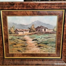 Arte: OLEO SOBRE LIENZO PAISAJE RURAL 60 X 52 ENMARCADO FIRMADO SANDRO. Lote 72727763