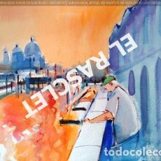 Arte: PINTURA ACUARELA - VENECIA - JOSEP MARFA GUARRO - DE - BARCELONA - 1990 -. Lote 230425070
