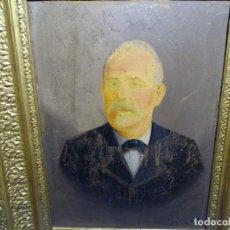 Arte: ANTIGUO RETRATO AL ÓLEO SOBRE TABLA FIRMADO A. LOTZ 1897 EN MARCO DE ÉPOCA.. Lote 230440840