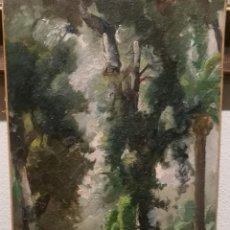 Arte: PAISAJE CON FIGURAS POR JAUME BERNADES (1910-73). Lote 230567285