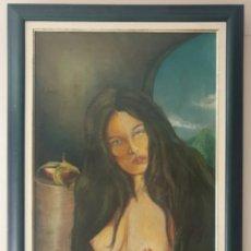 Arte: ESCUELA CUBANA - LAS DOS CARAS DE LA MONEDA.SURREALISMO.OLEO/TELA.FIRMADO.TITULADO.1999.. Lote 207774483