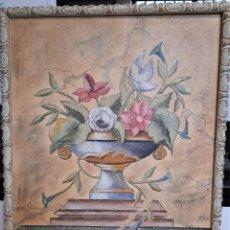 Arte: OLEO SOBRE LIENZO JARRON CON FLORES ENMARACADO 79 X 99 FIRMADO ACERRADA. Lote 72728895