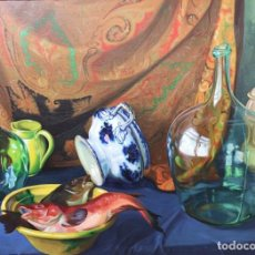 Arte: LEONARDO ABELENDA FREIRE. (A CORUÑA 1928 - MADRID 1995). BODEGÓN. ÓLEO SOBRE LIENZO.. Lote 230892935