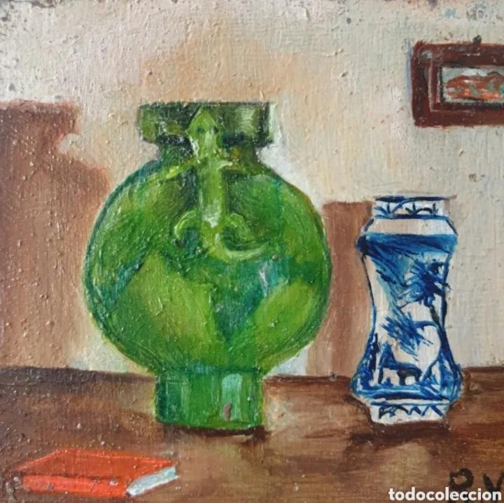 Arte: Roser Vilar Aymerich (Tarragona, 1925 - Figueras,2011) - Bodegón Miniatura.Oleo/tabla.Firmado.1943. - Foto 3 - 203947397