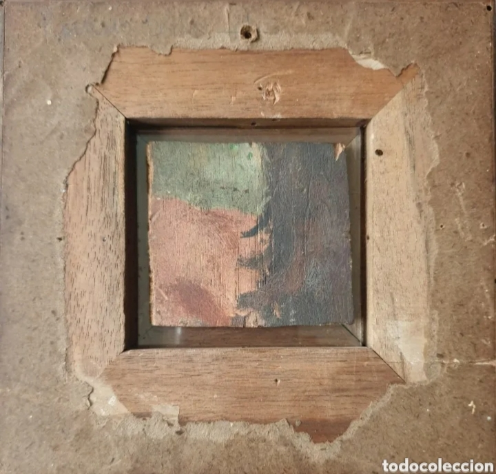 Arte: Roser Vilar Aymerich (Tarragona, 1925 - Figueras,2011) - Bodegón Miniatura.Oleo/tabla.Firmado.1943. - Foto 5 - 203947397