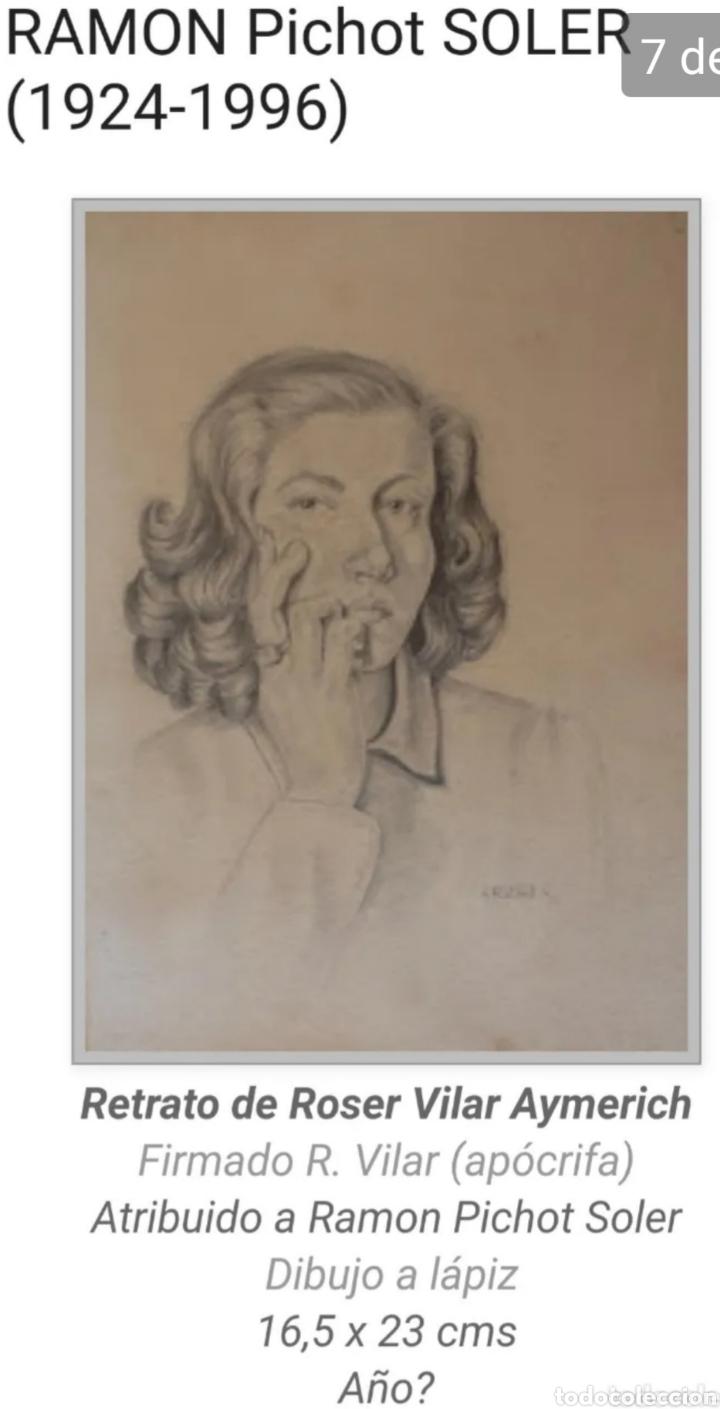 Arte: Roser Vilar Aymerich (Tarragona, 1925 - Figueras,2011) - Bodegón Miniatura.Oleo/tabla.Firmado.1943. - Foto 7 - 203947397