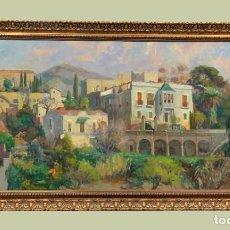 Arte: PAISAJE CATALAN GRAN FORMATO ESPLUGUES DE LLOBREGAT. Lote 231071900
