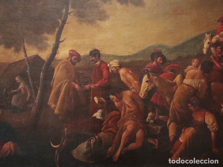 Arte: El mercado de la esclavitud. Escuela flamneca. Siglo XVII. Óleo/Lienzo. Med: 154 x 99 cm. - Foto 3 - 193284005