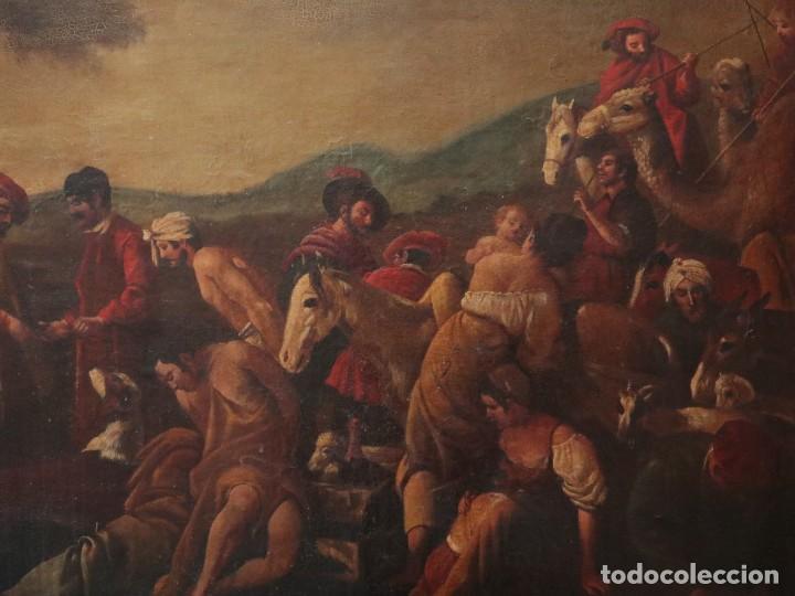 Arte: El mercado de la esclavitud. Escuela flamneca. Siglo XVII. Óleo/Lienzo. Med: 154 x 99 cm. - Foto 4 - 193284005