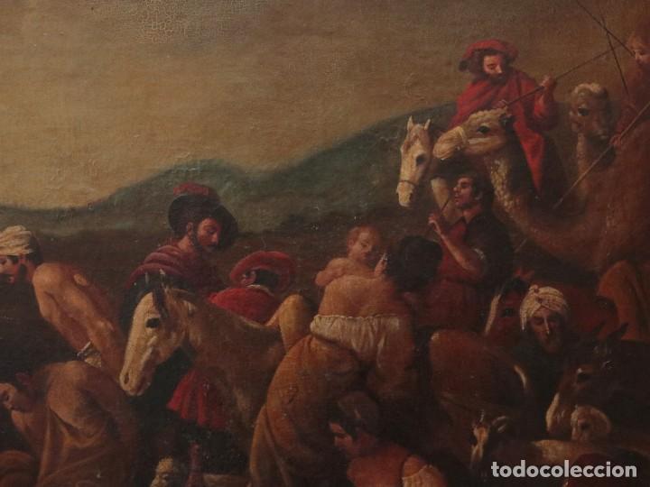 Arte: El mercado de la esclavitud. Escuela flamneca. Siglo XVII. Óleo/Lienzo. Med: 154 x 99 cm. - Foto 5 - 193284005